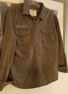 Military Style Snap Up Shirt